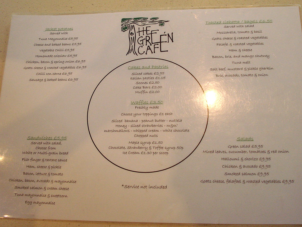 Green Cafe Menu Greenwich