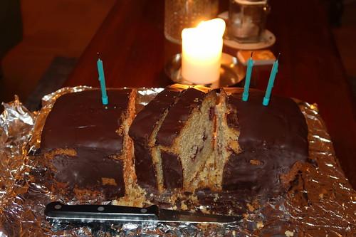 Schoko-Kirsch-Kuchen als Geburtstagskuchen