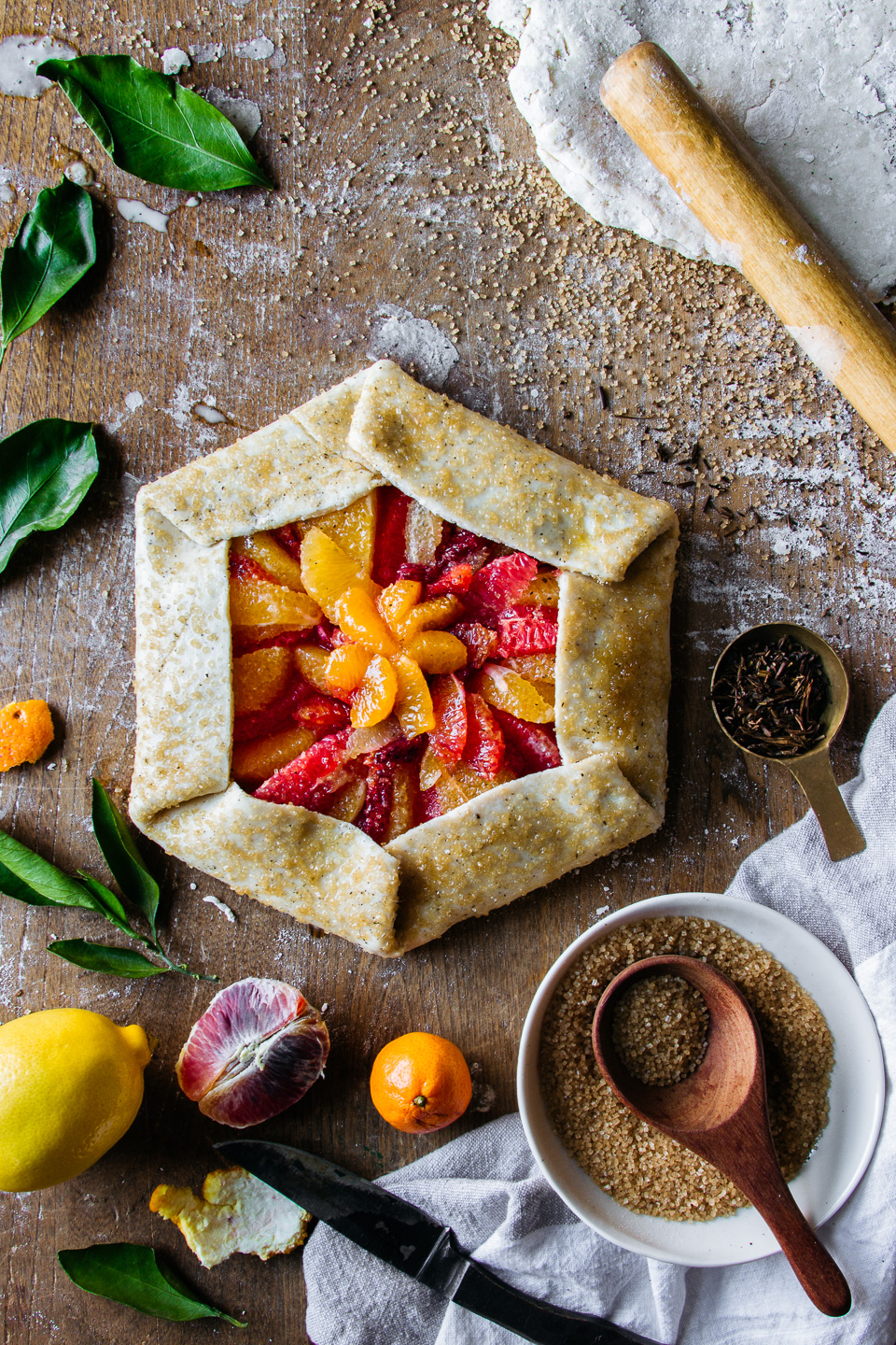 Roasted Citrus & Tea Galette