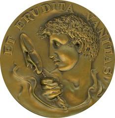 ERUDITA VANITAS Medal by John Cook reverse