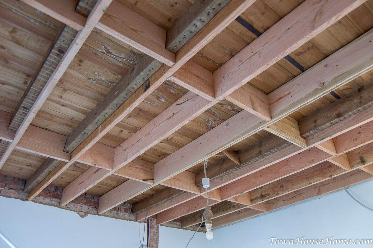 Reinforcement inbetween beams