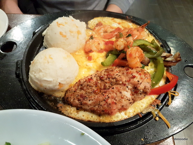 Chicken & Shrimp Sizzling Dish