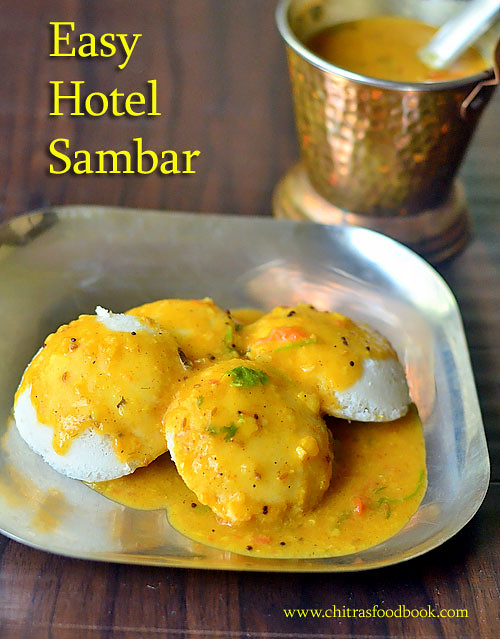 restaurant style idli sambar