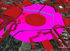 Rome, Coloseum 500 meter diameter