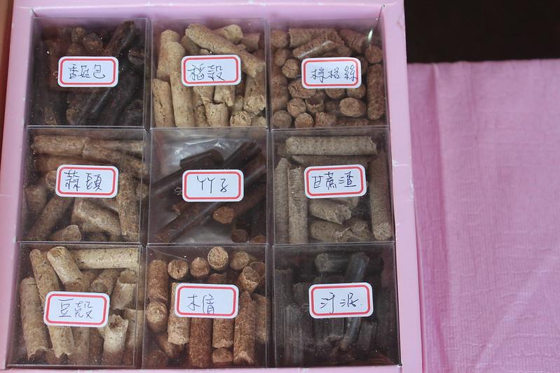 木質顆粒的料源。攝影:廖靜蕙