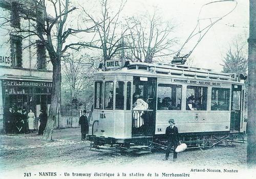 Vintage Nantes postcard