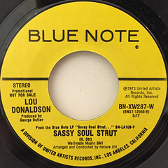 LOU DONALDSON:SASSY SOUL STRUT(LABEL SIDE-A)