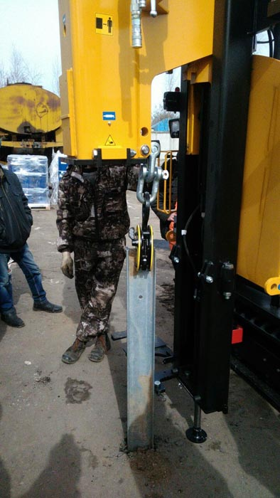 самоходная машина Orteco ВТР HD с системой автоматики вертикали мачты, экстратором и системой контроля расстояния между стойками