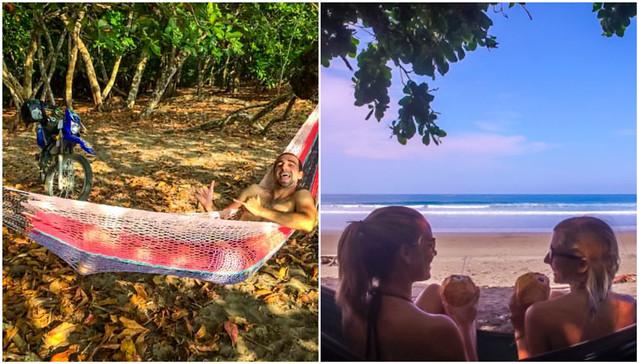 Hammocks on Playa Hermosa Costa Rica