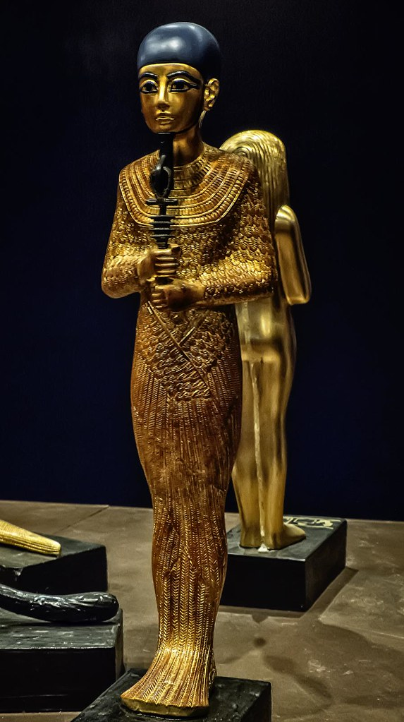 Gilded Wood Figure The God Ptah New Kingdom Dynast
