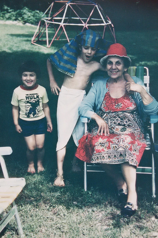 Grandma Mary with Louis and Eve