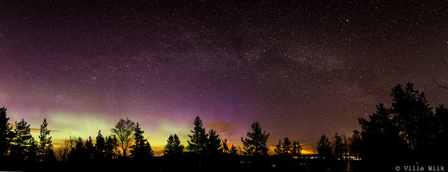 Milkyway with aurora
