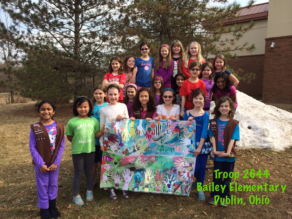 girl scouts of ohio troop 2644 from bailey elementary dub