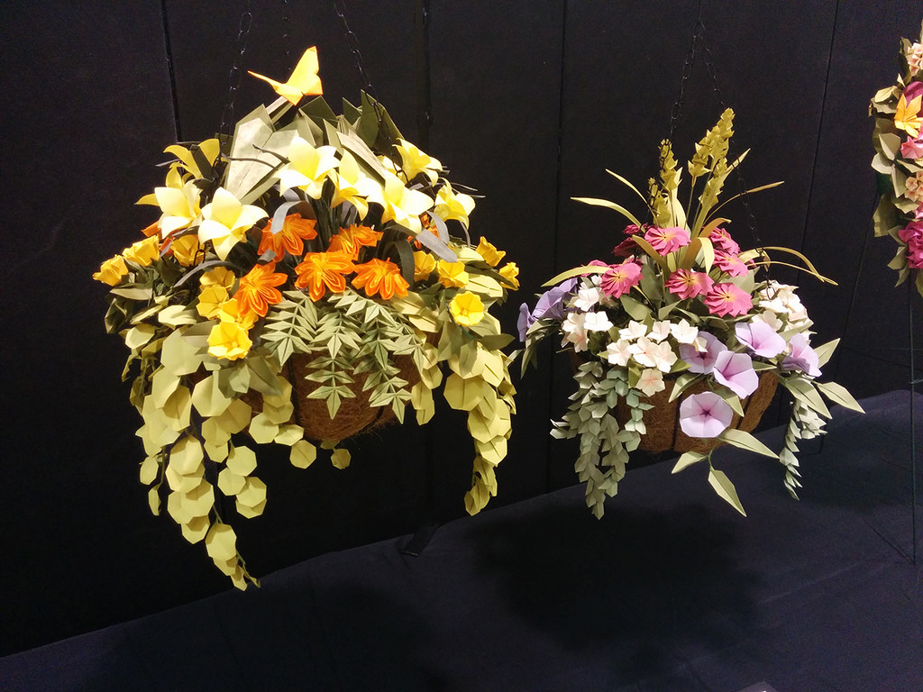 Hanging origami flower baskets john blackman creators y flickr hanging origami flower baskets john blackman by orangex3 mightylinksfo