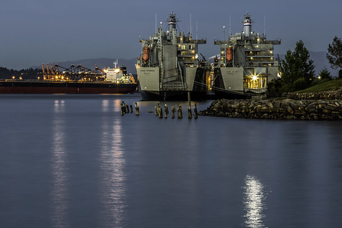 Military Transport Vehicles, Port of Tacoma