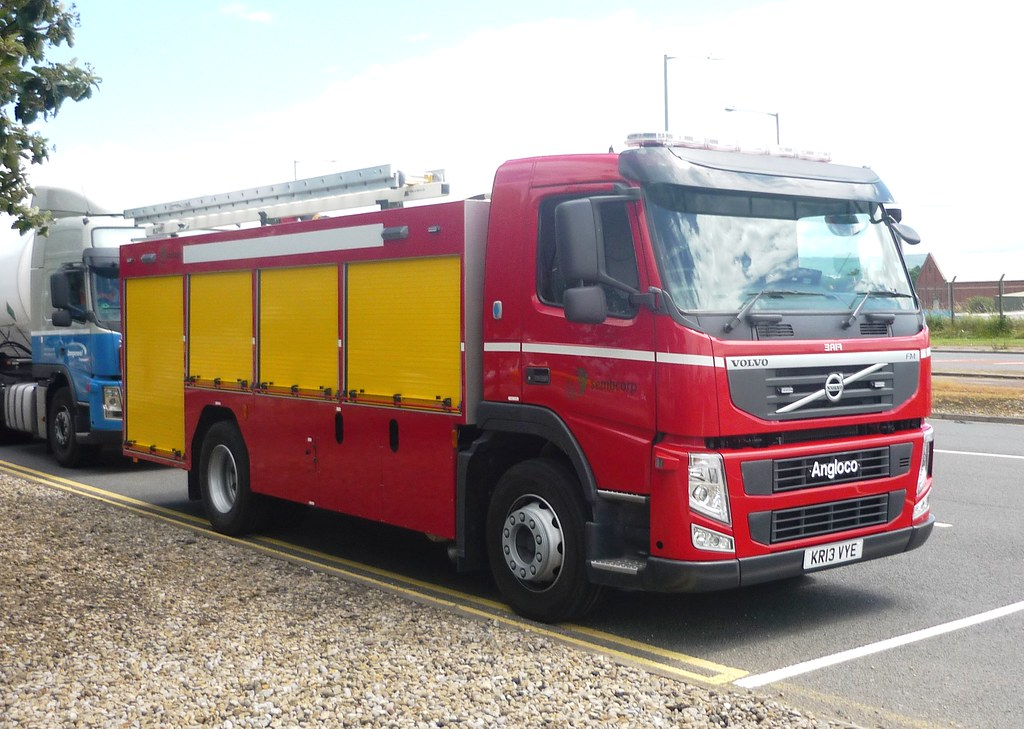 Volvo Fm 450 Angloco Fire Engine Of Sembcorp At Billingham