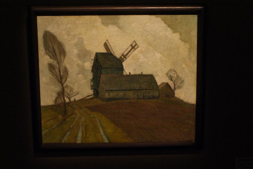 Paysage champêtre en Silésie autour de Breslau/Wroclaw dans le musée historique de Wroclaw.