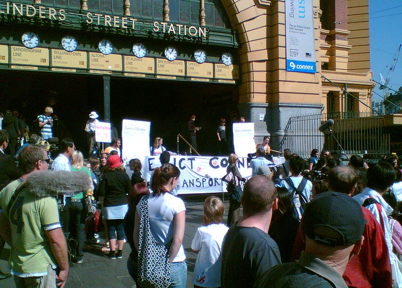 Anti-Connex Trains protest, 12 April 2007