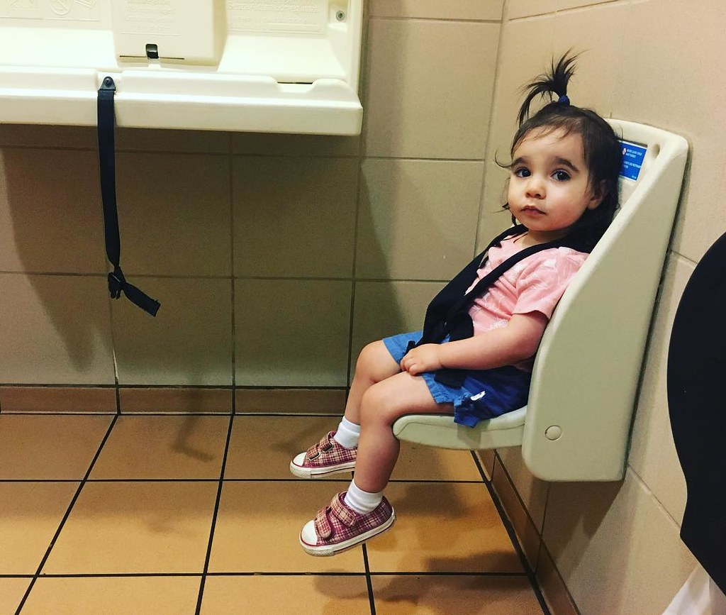 Girls shoes satll toilet by raquel Happiness is a bathroom stall where I can strap my kid down. | by  raquel