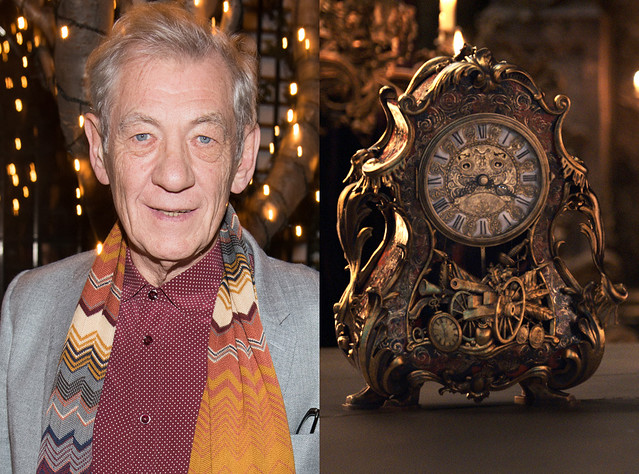 Sir Ian McKellen Beauty and The Beast Cogsworth