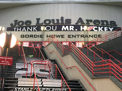 Joe Louis Arena Gordie Howe Entrance