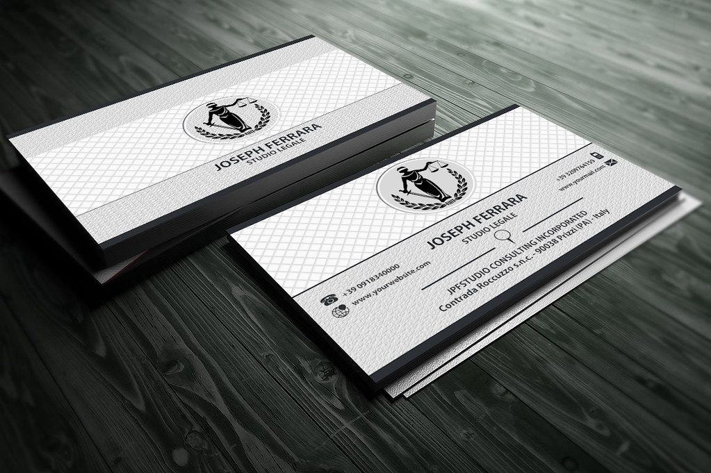 Elegant Classic Lawyer Business Card | We realize Custom Bus… | Flickr