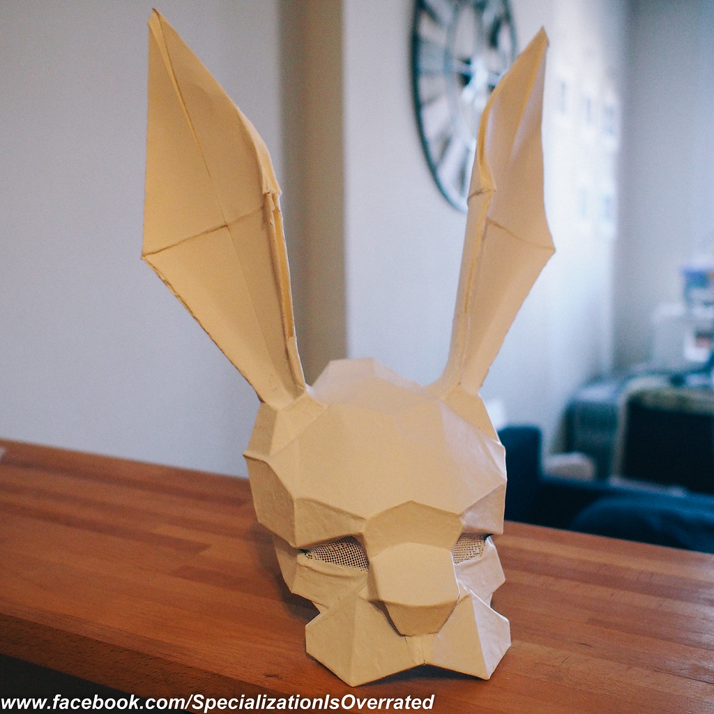 infamous second son origami mask mask inspired by the