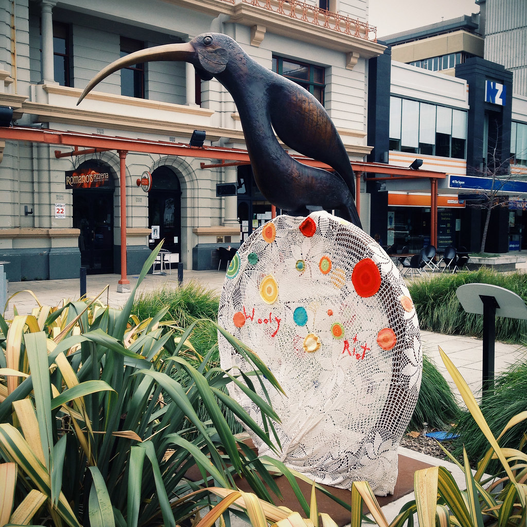 Knitting Jobs Nz : The huia has been knit bombed by wolly riot palmerston