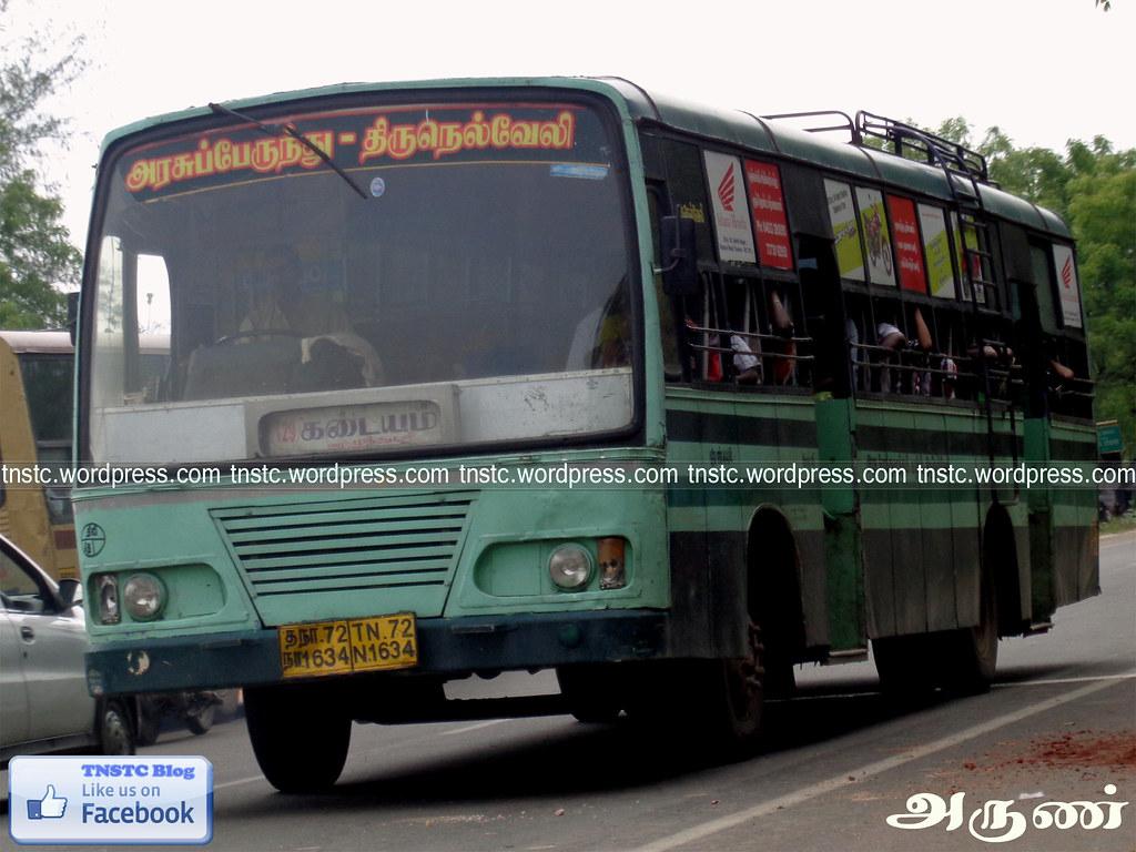 ... TN-72N-1634 of Tenkasi Depot Route 129 Ordinary Kadayam - Tirunelveli  via Pottalpudhur