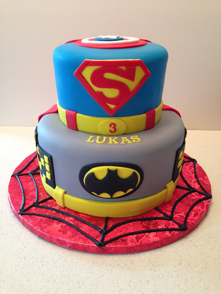 Superhero Birthday Cake Cakegirlkc Flickr