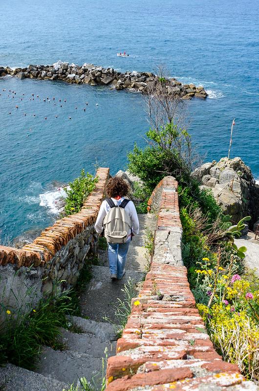 Riomaggiore - Into the sea.