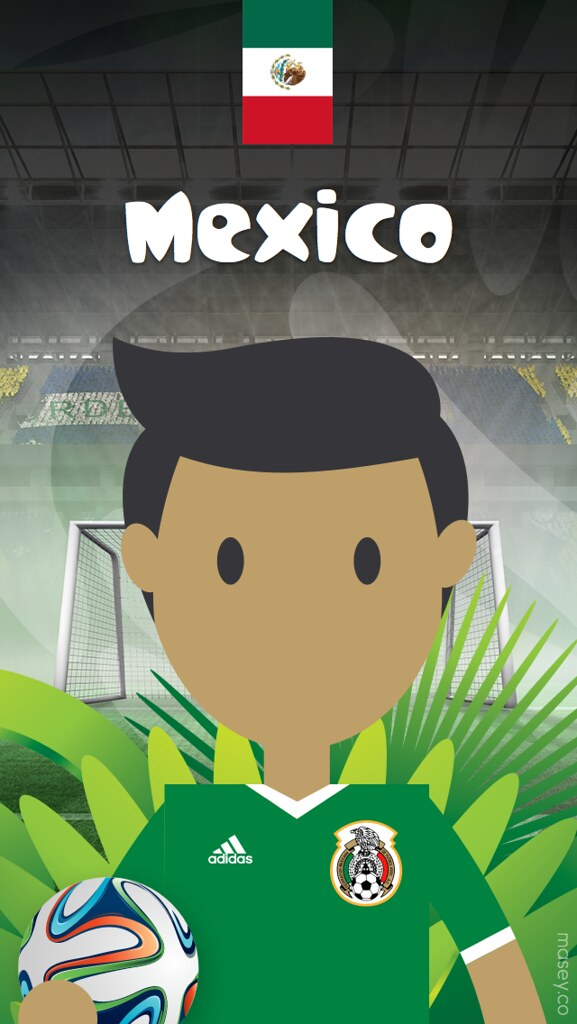 mexico football world cup iphone wallpaper splash