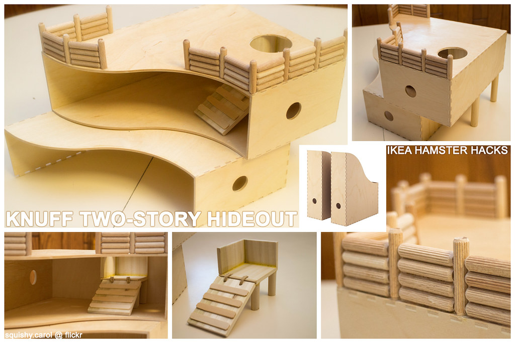 ... Ikea Hack Knuff Two-Story House | by squishy.carol