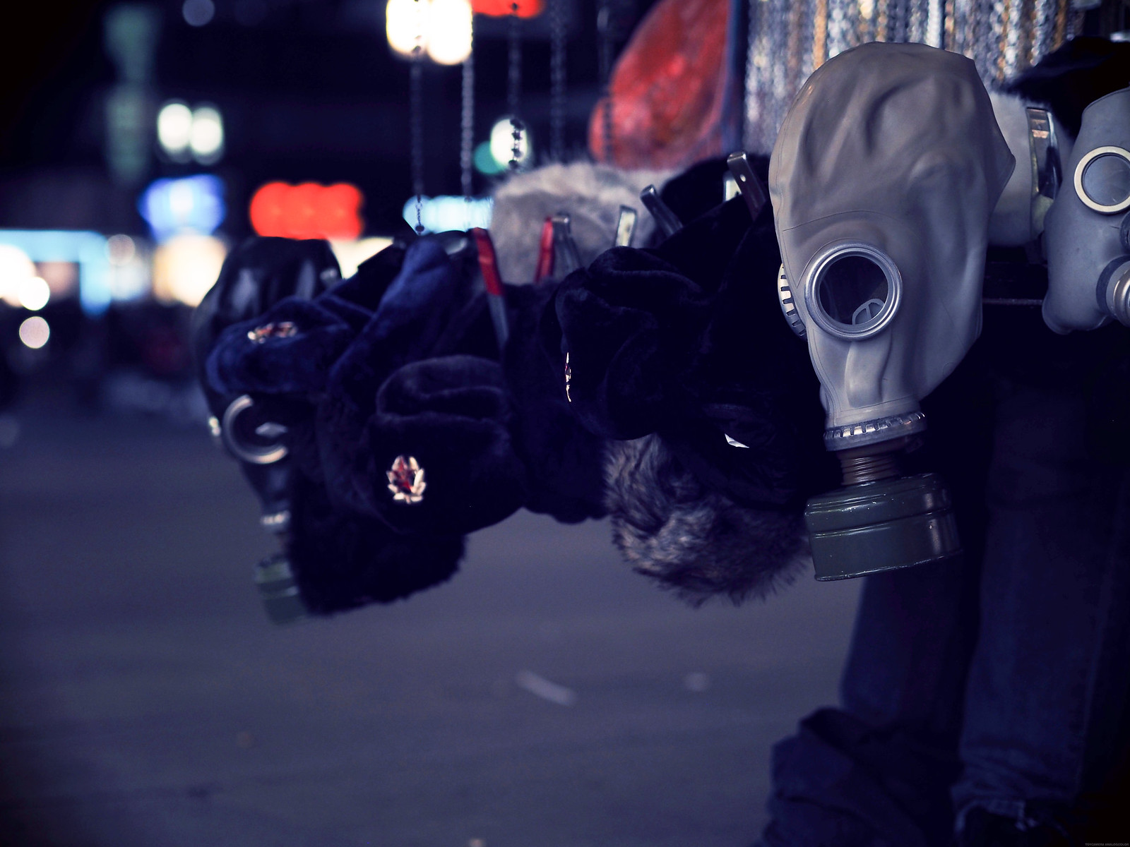 Gas Masks Soviet Union Berlin Hipster _effected