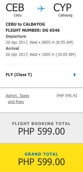 Cebu Pacific Air Sale Calbayog P599