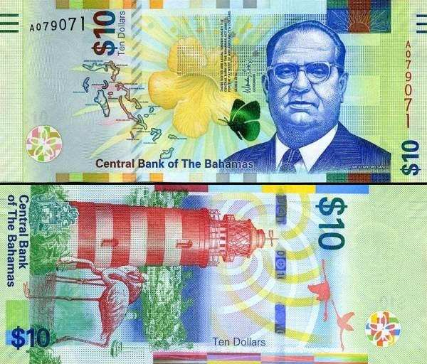 10 bahamských dolárov Bahamy 2016