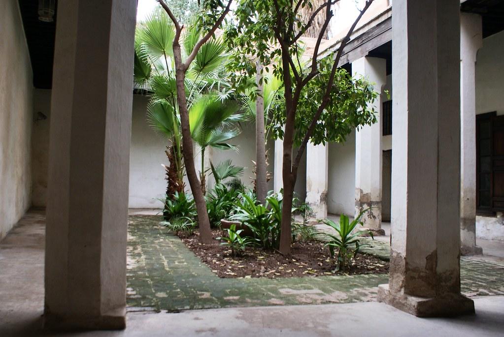 Le deuxième patio du musée Dar Si Said de Marrakech.