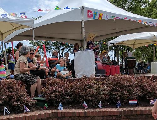 Drumming at the Greer International Festival