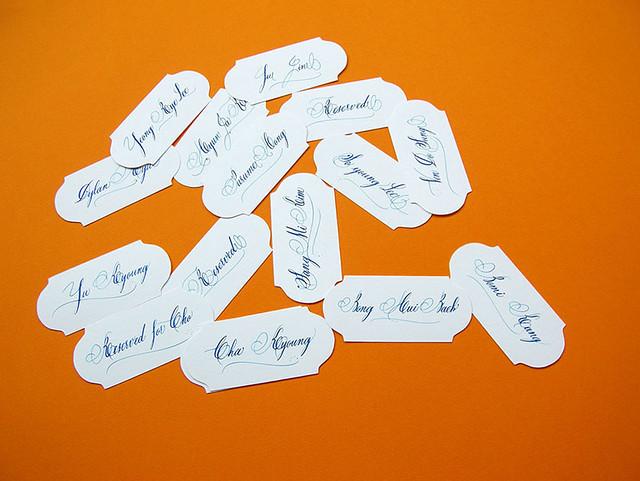 Calligraphie marque places mariage paris calligraphie cartons de table callig - Marque places mariage ...