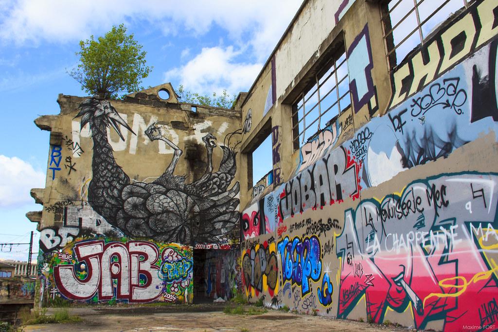 Graffiti Wall Urbex Lyon By Maxime Fort