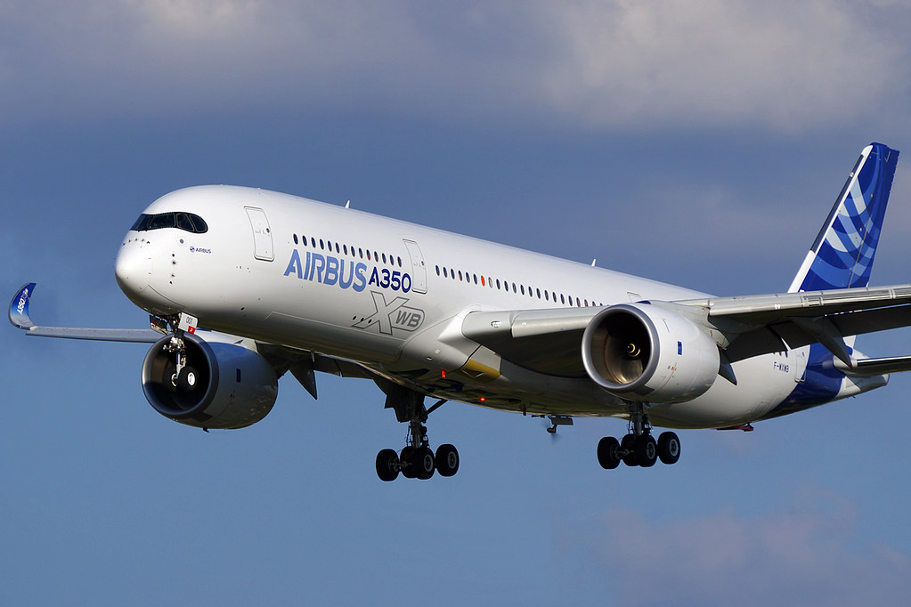 Airbus A350 941 Xwb Landing At Toulouse France With