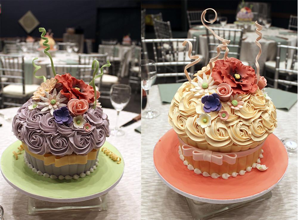 Oversized Cupcake Wedding Cake Centerpieces Buttercream We Flickr