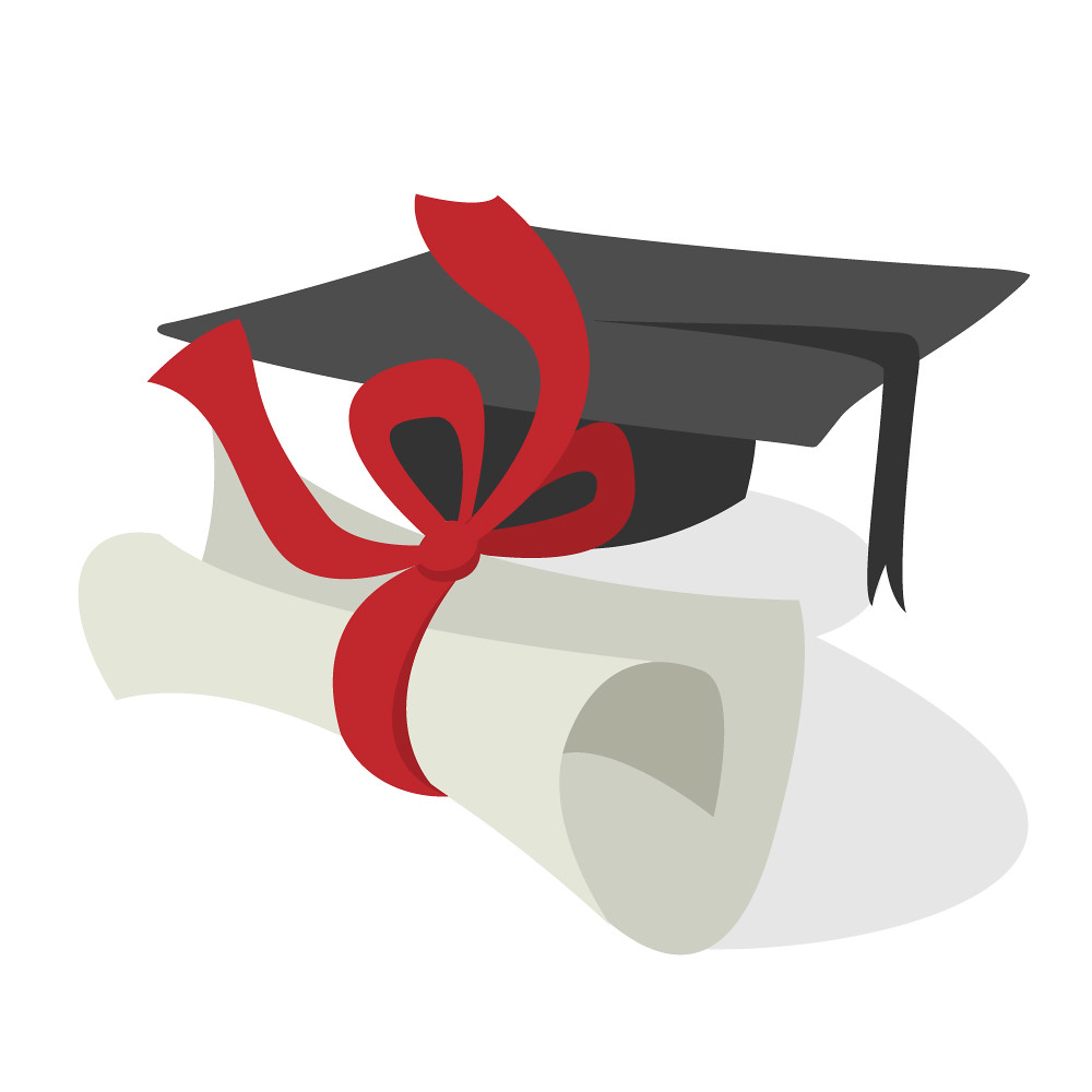 Cap and Diploma | Illustration of a graduation cap and ...