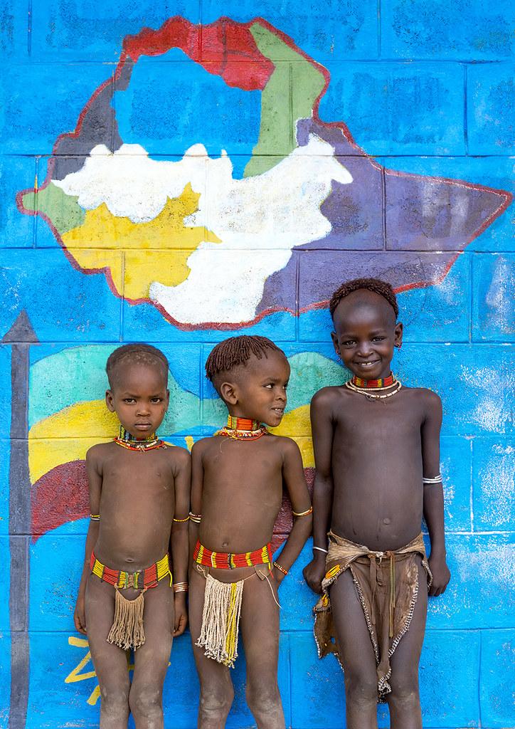 Hamer Tribe Kids In A School, Turmi, Omo Valley, Ethiopia -3089