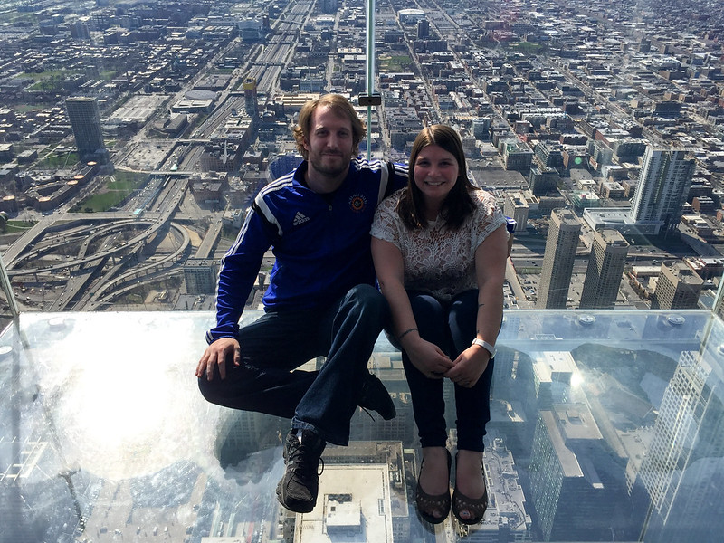 On The Ledge at the Skydeck in Chicago
