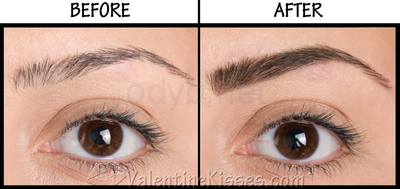 eyebrow pencil before after