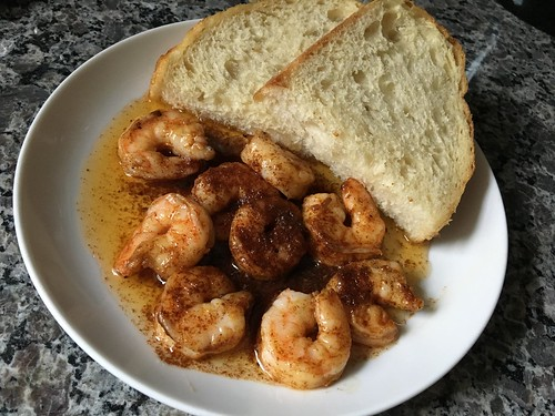 Shrimp with anchovy butter