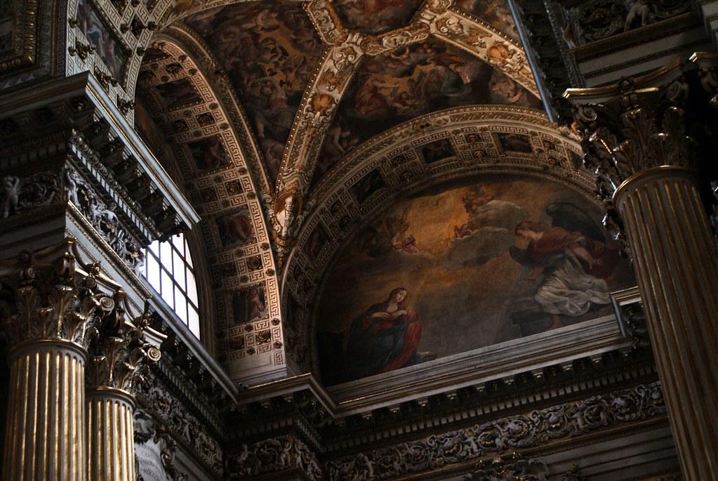 Fresque dans le cathédrale San Pietro de Bologne.