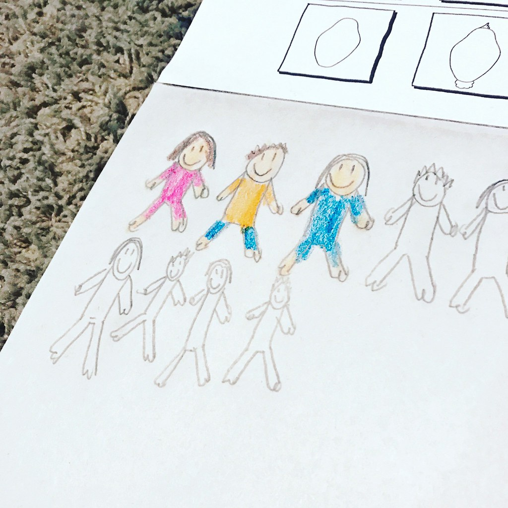 kid drawing of people