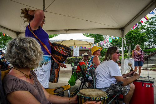 Drumming at the Greer International Festival-005